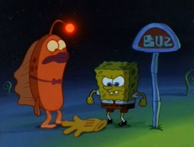 Screenshots from the 2000 United Plankton Pictures cartoon Rock Bottom