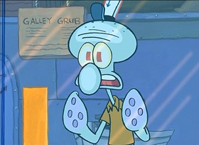 Screenshots from the 2000 United Plankton Pictures cartoon Squid