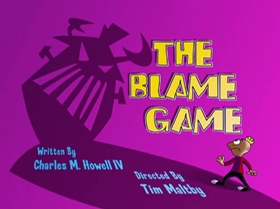 Screenshots from the 2000 Warner Brothers Television cartoon The Blame Game