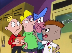 Screenshots from the 2000 Warner Brothers Television cartoon Rule the School