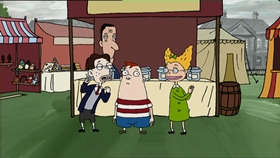 Screenshots from the 2000 Absolutely Productions cartoon Crush