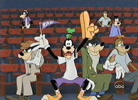 Screenshots from the 2000 Disney Television Animation cartoon How to Be a Baseball Fan