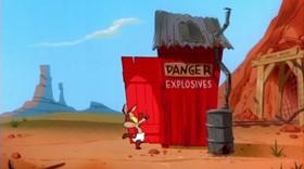 Screenshots from the 2000 Warner Brothers cartoon Little Go Beep