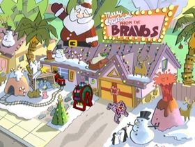 Screenshots from the 2001 Cartoon Network Studios cartoon A Johnny Bravo Christmas