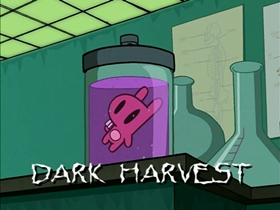 Screenshots from the 2001 Nickelodeon cartoon Dark Harvest