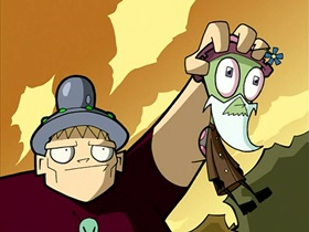 Screenshots from the 2001 Nickelodeon cartoon Attack of the Saucer Morons