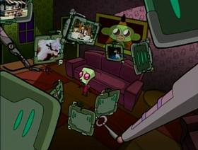 Screenshots from the 2001 Nickelodeon cartoon Invasion of the Idiot Dog Brain