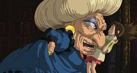 Screenshots from the 2001 Studio Ghibli cartoon Spirited Away