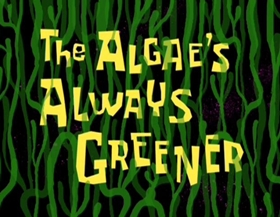 Screenshots from the 2002 United Plankton Pictures cartoon The Algae