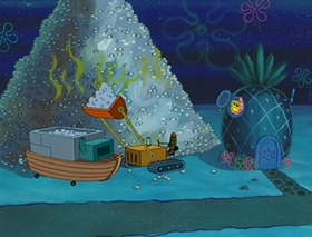 Screenshots from the 2002 United Plankton Pictures cartoon Rock-a-Bye Bivalve