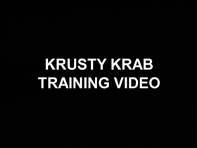 Screenshots from the 2002 United Plankton Pictures cartoon Krusty Krab Training Video