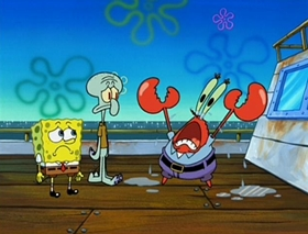 Screenshots from the 2002 United Plankton Pictures cartoon Clams