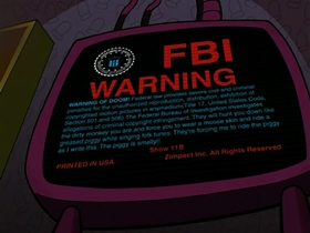 Screenshots from the 2002 Nickelodeon cartoon FBI Warning of Doom