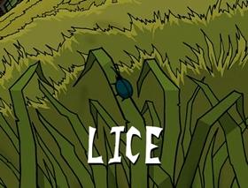 Screenshots from the 2002 Nickelodeon cartoon Lice
