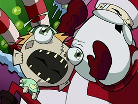 Screenshots from the 2002 Nickelodeon cartoon The Most Horrible X-Mas Ever