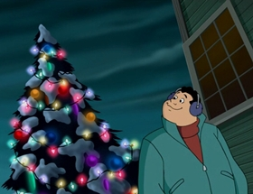 Screenshots from the 2002 Warner Brothers Television cartoon A Scooby-Doo! Christmas