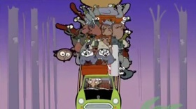 Screenshots from the 2002 Tiger Aspect Productions cartoon In the Wild