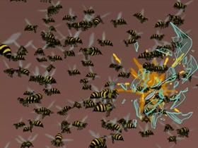 Screenshots from the 2003 Curiosity Company cartoon The Sting