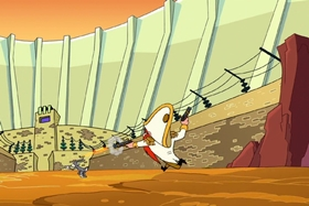 Screenshots from the 2003 Warner Brothers cartoon Hare and Loathing in Las Vegas