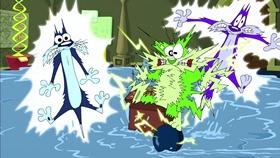 Screenshots from the 2003 Warner Brothers cartoon Museum Scream