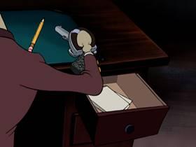 Screenshots from the 2003 Spumco cartoon Ren Seeks Help