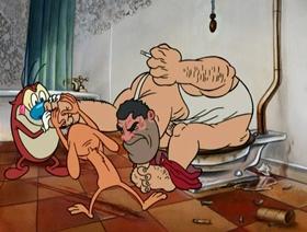 Screenshots from the 2003 Spumco cartoon Fire Dogs 2 (Part 1)