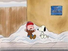 Screenshots from the 2003 Bill Melendez Productions cartoon I Want a Dog for Christmas, Charlie Brown