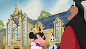 Screenshots from the 2004 DisneyToon Studios cartoon Mickey, Donald, Goofy: The Three Musketeers