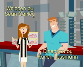 Screenshots from the 2004 Nelvana cartoon Breaking Up with the Boss