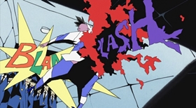 Screenshots from the 2004 Production I.G cartoon Dead Leaves