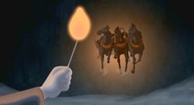 Screenshots from the 2005 Disney cartoon The Little Match Girl