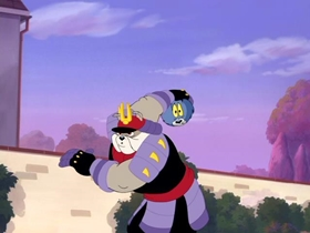 Screenshots from the 2005 Warner Brothers cartoon The Karate Guard