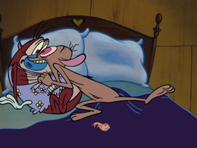Screenshots from the 2006 Spumco cartoon Stimpy