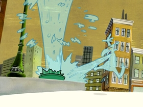 Screenshots from the 2006 Warner Brothers Television cartoon Puddle Trouble