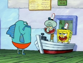 Screenshots from the 2009 United Plankton Pictures cartoon To SquarePants or Not to SquarePants