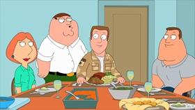 Screenshots from the 2011 Fuzzy Door Productions cartoon Thanksgiving