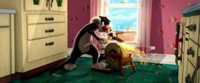 Screenshots from the 2011 Warner Brothers cartoon I Tawt I Taw A Puddy Tat