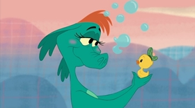 Screenshots from the 2011 Disney cartoon The Ballad of Nessie
