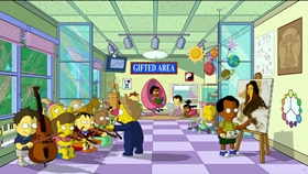 Screenshots from the 2012 Gracie Films cartoon The Longest Daycare