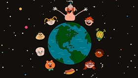 Screenshots from the 2013 Cartoon Network Studios cartoon Belly Bros