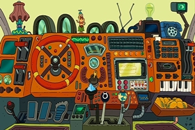 Screenshots from the 2013 Cartoon Network Studios cartoon Driver