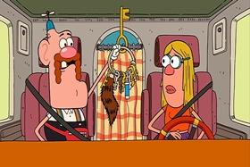 Screenshots from the 2013 Cartoon Network Studios cartoon Driver