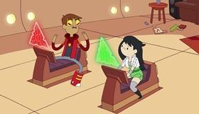 Screenshots from the 2013 Frederator Studios cartoon Hamster Priest