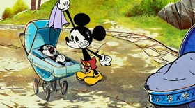 Screenshots from the 2013 Disney Television Animation cartoon New York Weenie