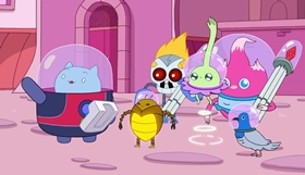 Screenshots from the 2014 Frederator Studios cartoon Catbug