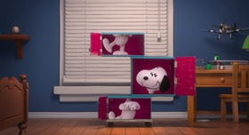 Screenshots from the 2015 Blue Sky Studios cartoon The Peanuts Movie