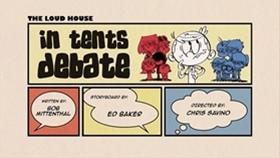 Screenshots from the 2016 Nickelodeon cartoon In Tents Debate