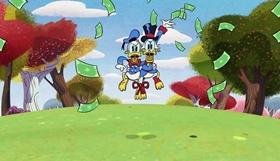 Screenshots from the 2017 Disney Television Animation cartoon Three-Legged Race