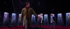 Screenshots from the 2018 Sony Pictures Animation cartoon Spider-Man: Into the Spider-Verse