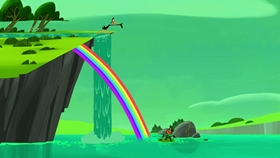 Screenshots from the 2018 Warner Brothers Television cartoon Lucky Duck